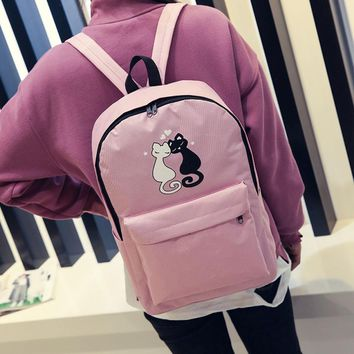 Women's Cat Couple Travel  Backpack