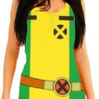 X-Men Rogue Yellow Juniors Costume Tunic Tank Dress