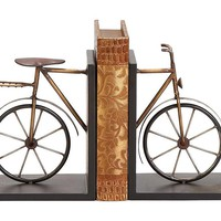 One Kings Lane - Gifts for Him - Pair of Bicycle Bookends
