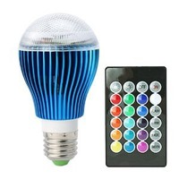 HitLights S Series 9 Watt A19 Multicolor 16 Color Options and Memory Feature LED Tape Light Bulb with Remote, E26 Base