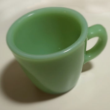 Fire King G207 - Jadeite Tapered Coffee Cup (Rare)