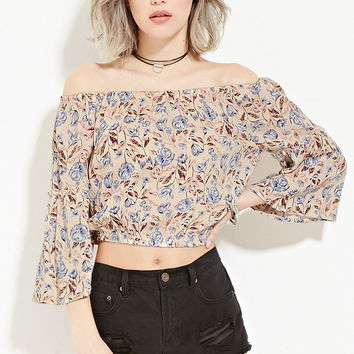 Floral Print Gauze Top | Forever 21 - 2000187072