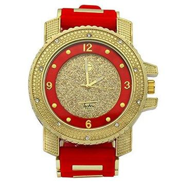 Iced Out Red October Hip-Hop Watch