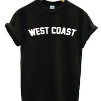 WEST COAST Tshirt Top jay-z Miley Cyrus flawless tumblr swag fresh dope pope new