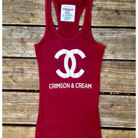 Crimson & Cream Oklahoma Racer Back Tank | Royce Clothing