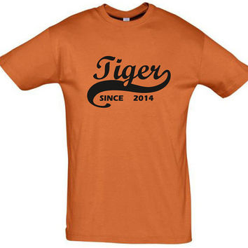 Tiger since 2014 (Any Year),gift ideas,humor shirts,humor tees,birthday gift,horoscope shirt,tiger shirt,gift for husband,cotton shirt