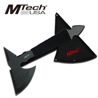 MTECH BLACK NINJA THROWING AXE HATCHET WITH CORD WRAPPED HANDLE