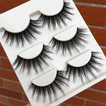 New Imported Silk 3d False Eyelashes Natural Long Crisscross Curling Fake Eyelashes Sexy Thick Performance Makeup Eye Lashes