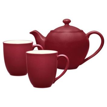 Noritake® Colorwave 3-Piece Tea-for-Two Teapot Set in Raspberry