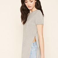 Heathered Side-Slit Tunic