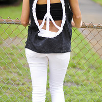 Peace, Love, & Happiness Top: Black | Hope's