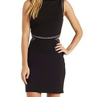 JEWELED CUT-OUT BODYCON DRESS