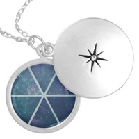 Space Silver Plated Round Locket