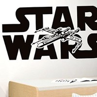 Wall Decals Star Wars X-Wing Star Fighter Decal Vinyl Sticker Home Decor Bedroom Dorm Gym Nursery Art Murals Ms719