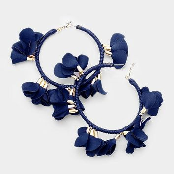 Large Floral Fabric Hoops - 2 Colors