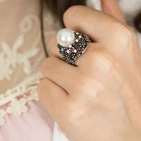 Delta Lady Ring in Silver