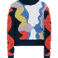Peter Pilotto Multi-Colored Turtleneck Sweater - Multi-Pattern Green Sweater