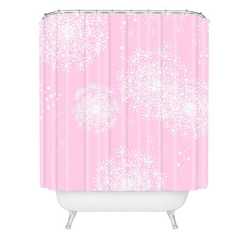 Monika Strigel Dandelion Snowflake Pink Shower Curtain
