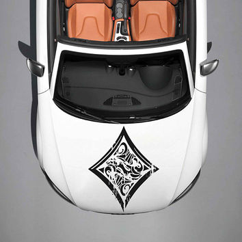 playing cards car hood decal playing cards Car Decals cards Car Truck playing cards Side Body Graphics Decal Sticker for car ikcar90