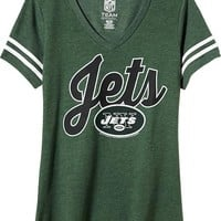Old Navy Womens NFL Sleeve Stripe Tee