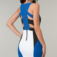 Strappy Cutout Sleeveless Mini Bodycon Dress