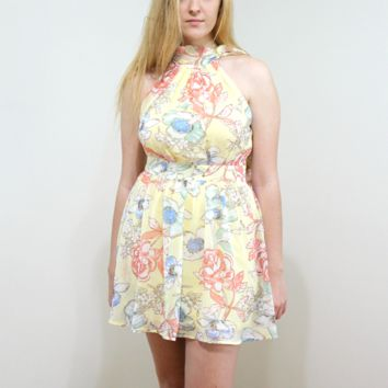 Yellow Spring Petal Dress