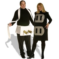 Plug & Socket Couples Set Costume - Adult Plus (Black)
