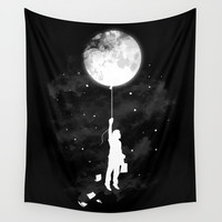 Midnight Traveler Wall Tapestry by Budi Kwan