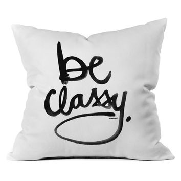 DENY Designs Kal Barteski Be Classy Outdoor Throw Pillow | www.hayneedle.com