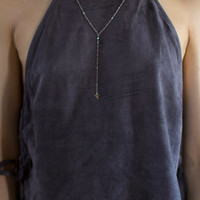 Erin Wasson Faux Suede Side Tie Cropped Tank Top at PacSun.com
