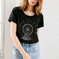 Truly Madly Deeply Rah Of Darkness Cropped Tee- Washed Black