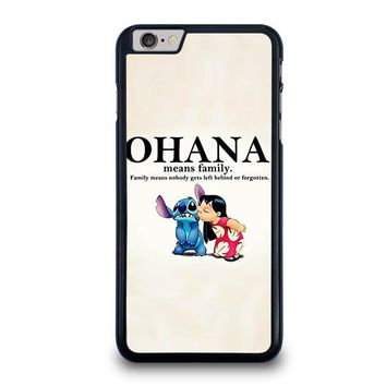 lilo and stitch ohana family disney iphone 6 6s plus case cover  number 1