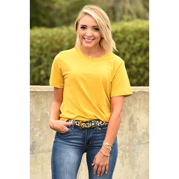 Simply In Love Tee - Mustard