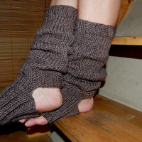 Hand knit  Yoga Leg Warmers, Knitted Legwarmers, Dance Leg Warmers, Hand knit Yoga Socks