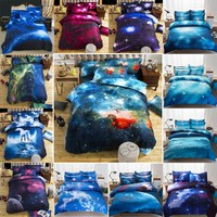 New Hot Quilt cover Universe Outer Space Themed Bed Linen Cover Set Single double Twin/Queen 2pcs bedding sets