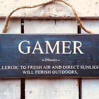 Gift for Men Boys. Gaming Sign. Gamer. Gift for Boyfriend. Gamers Gift. Teen Boys Gift. Funny Sign. Gaming Gifts. Funny Gift