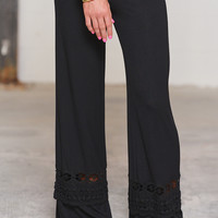 A Whole New World Palazzo Pants - Black