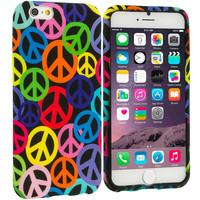 Peace Sign TPU Design Soft Rubber Case Cover for Apple iPhone 6 Plus 6S Plus (5.5)
