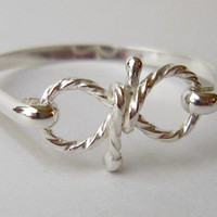 Remember Infinity Ring  Solid Sterling by TwilightEyesStudio