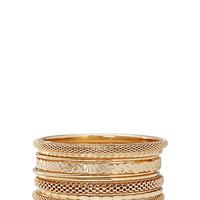 FOREVER 21 Textured Bangle Set Gold
