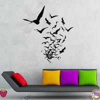 Wall Stickers Vinyl Decal Birds Creepy Scary Horror Decor Living Room  Unique Gift (z2144)
