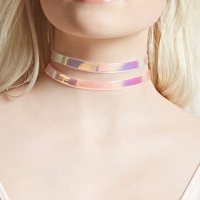 Iridescent Jelly Choker