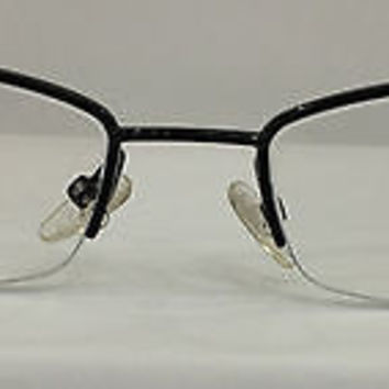 NEW AUTHENTIC GIORGIO ARMANI GA649 COL NPH BLACK METAL EYEGLASSES FRAME 49MM