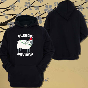 Fleece Navidad Hoodie.Sweater.Jumper - Size Unisex Hoodie - For Women,Men