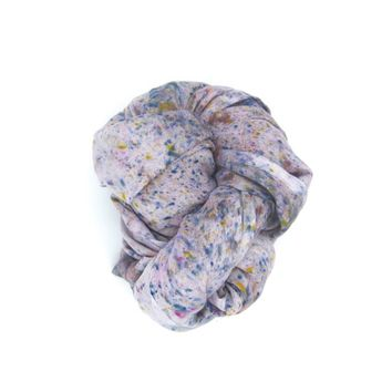 Tuesday - Hand Dyed Infinity Scarf in Deconstructed Grey