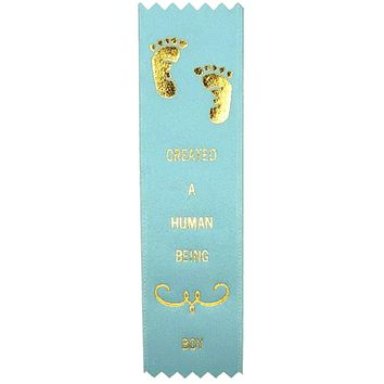 Created A Human Being Award Ribbon on Gift Card (Blue)