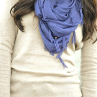 My Cozy Infinity Scarf: Navy Blue | Hope's