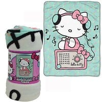 Licensed Official New Sanrio Hello Kitty Radio Super Soft Micro Raschel Large Blanket