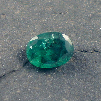 Emerald: 0.81ct Green Oval Shape Gemstone, Natural Hand Made Faceted Gem, Loose Precious Beryl Mineral, Cut Crystal AAA Jewelry Supply 20069