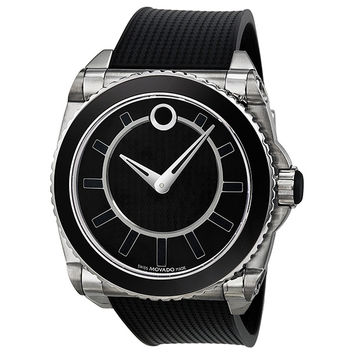 Movado Master Automatic Black Dial Stainless Steel Mens Watch 0606295